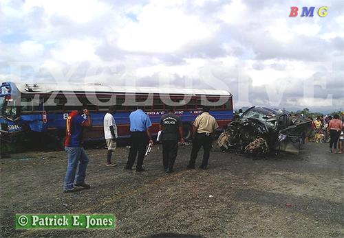 Passenget bus crash in Bella Vista village