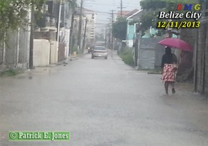 Belize City streets are flooding