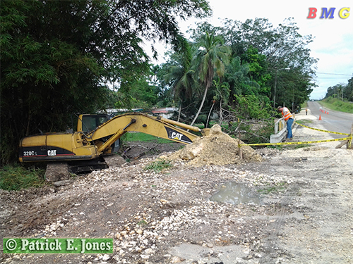 Bridge repairs in Central Farm