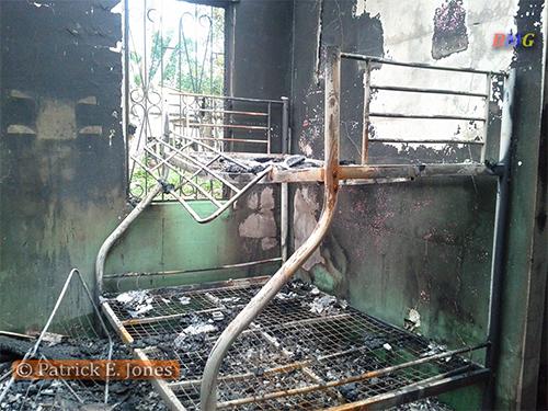 Maddison family house destroyed