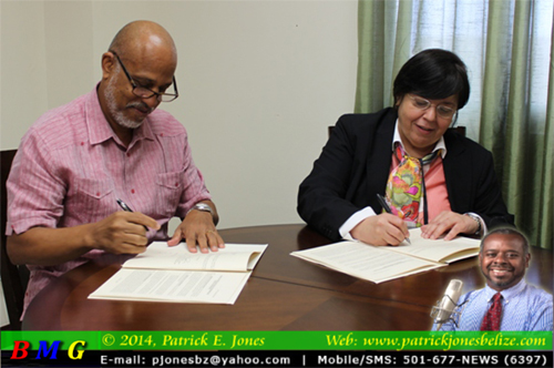 IDB grant agreement signing (Government Press Office photo)