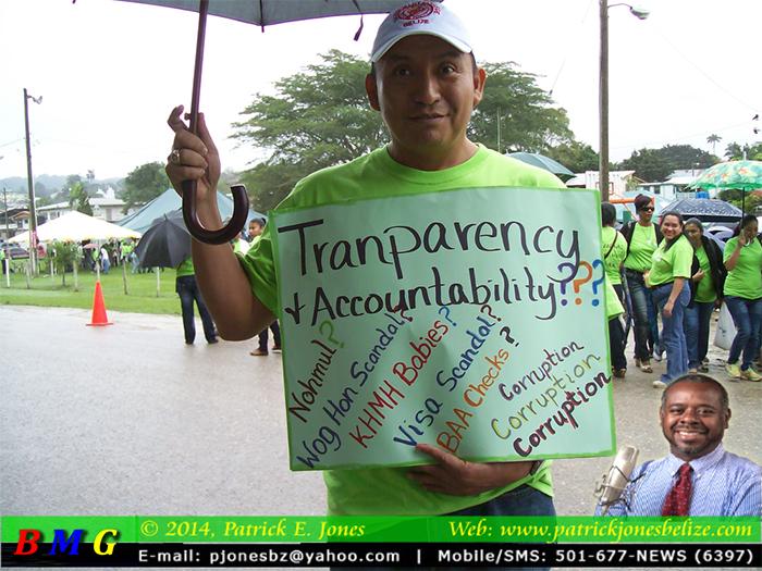 Teachers rally in San Ignacio