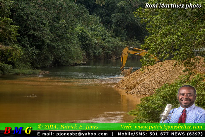 Sand mining on the Sittee River