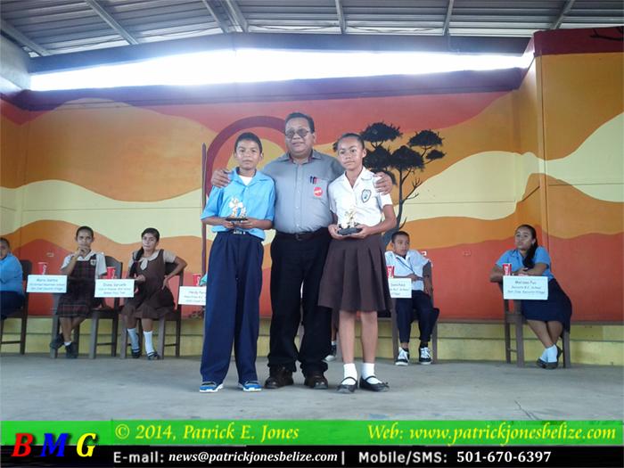 Allan Manzanero & Jayne Faux (Spelling Bee winners, Zone 1)