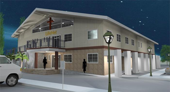 Artist rendering (New LifeNet church building)