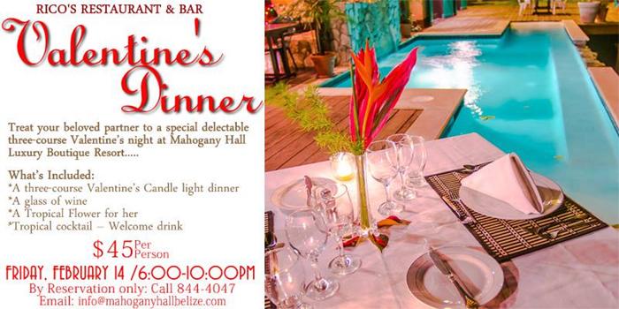Valentine's Dinner (Mahogany Hall Resort)