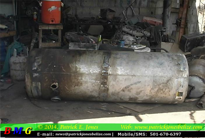 Welding tank explodes (Orange Walk)