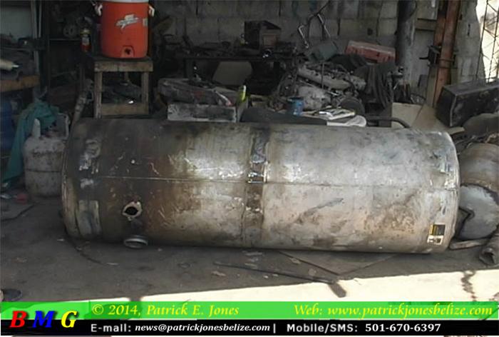 Welding tank explodes (Orange Walk)