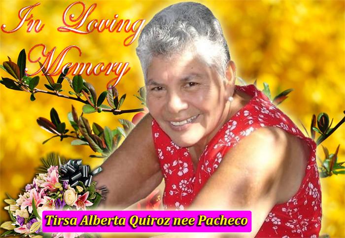 Tirsa Alberta Quiroz nee Pacheco