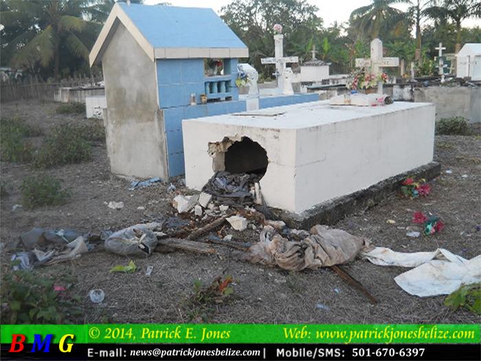Desecrated tomb (Douglas Village)