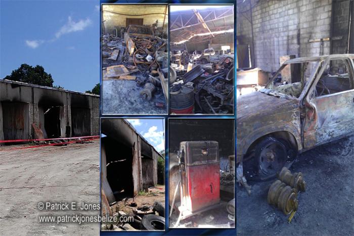 Fire destroys building (Corozal)