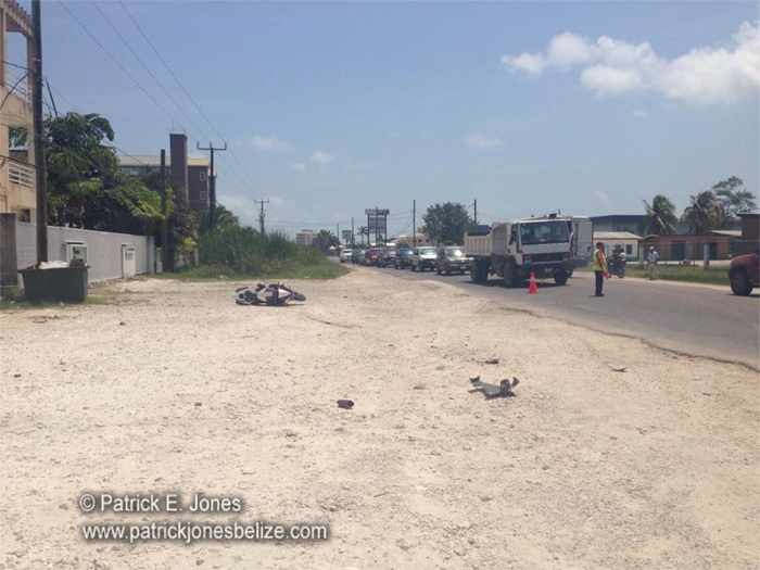 Traffic accident (Hilberto B. Riverol Jr. photo)