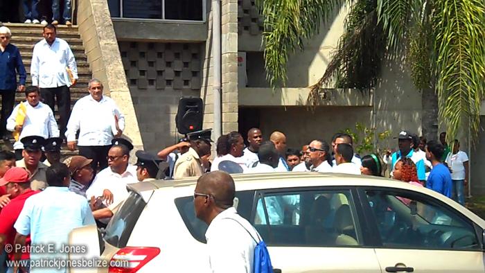 Outside National Assembly  (Belmopan)