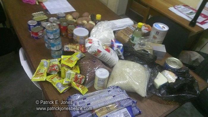 Stolen food items (Placencia village)
