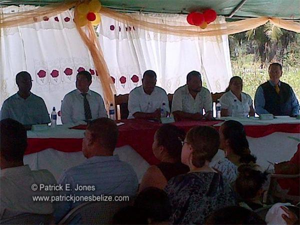 Inauguration ceremonies (Guinea Grass Multi-Purpose Centre)