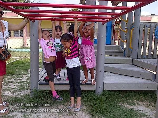 Preschool children at play (Orange Walk)