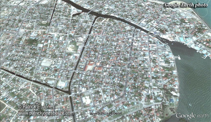Belize City aerial (Google Earth photo)