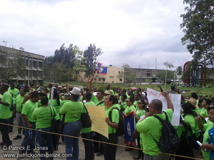 Teachers Demonstrating (Belmopan)