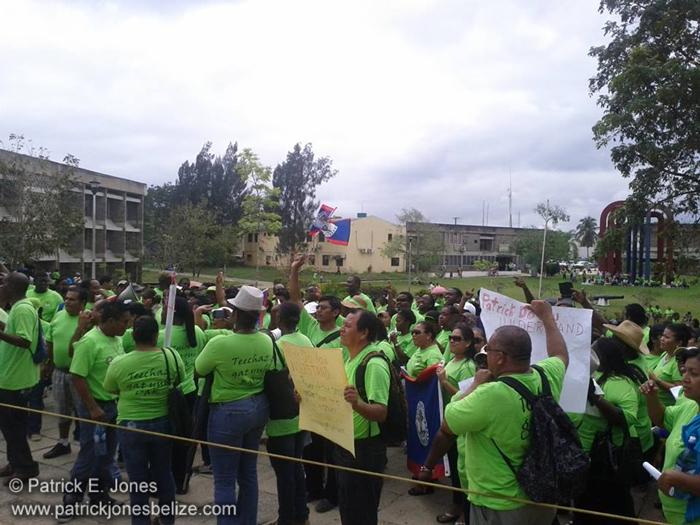 Teachers Demonstrating (Belmopan)