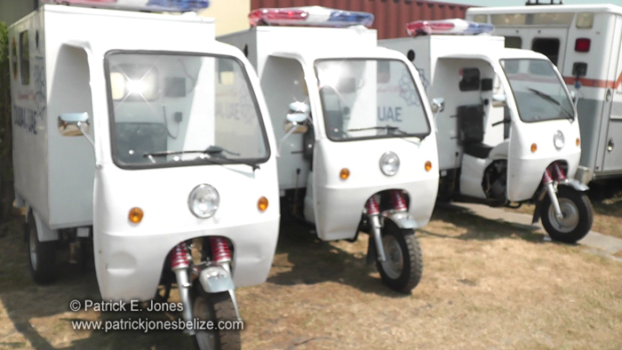 Health support vehicles (Belize City)