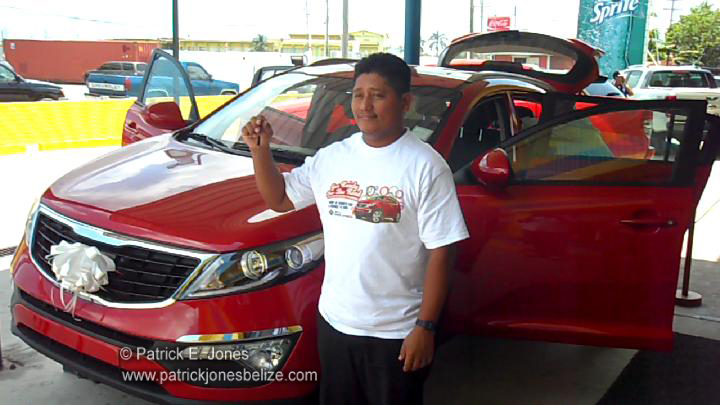 Aron COwo (Winner of a car)