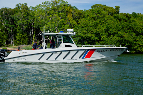 Belize National Coast Guard search