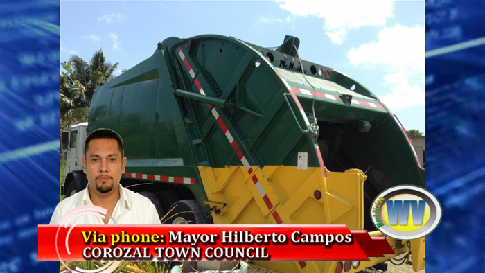 Garbage truck for Corozal