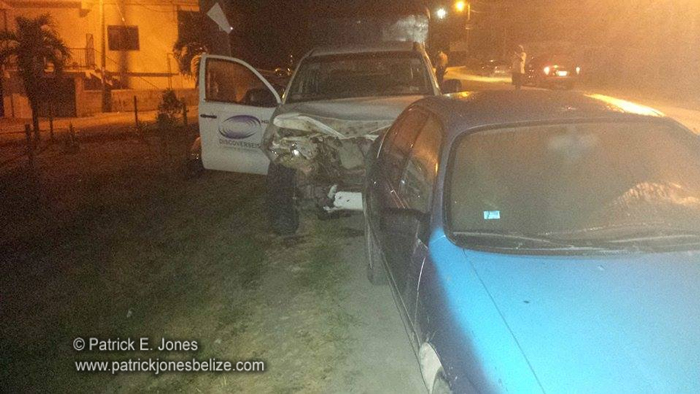 Vehicles crash in Santa Elena town