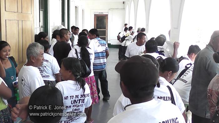 Maya people await judge's decision (Belize City)
