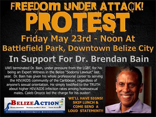 Belize Action Protest