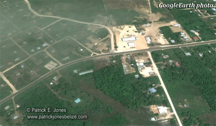 Robbery/Car-jacking in Cayo (Google Earth Photo)