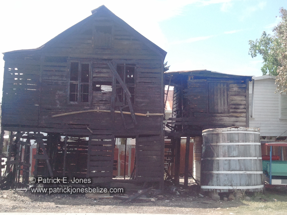 House gutted by fire (Belize City)