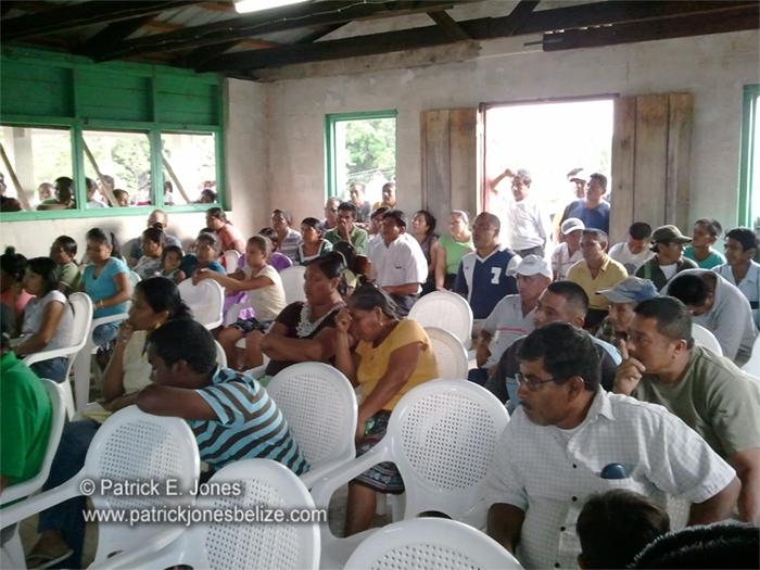 Communal Land rights meeting (Big Falls, Toledo)