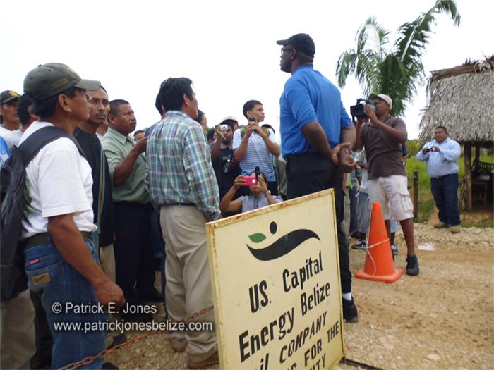 Maya communities protest (Toledo)