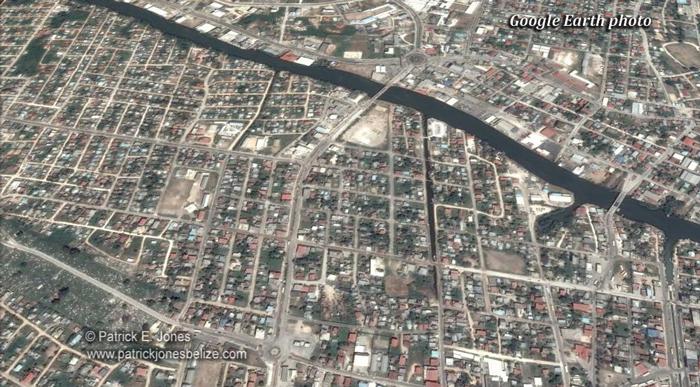 Belize City (Google Earth photo)