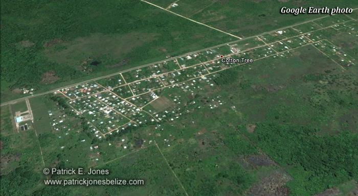 Cotton Tree village (Google Earth photo)