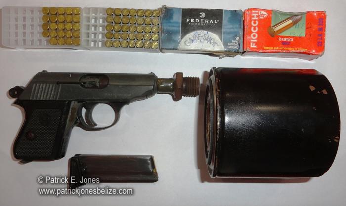Unlicensed firearm (Orange Walk)