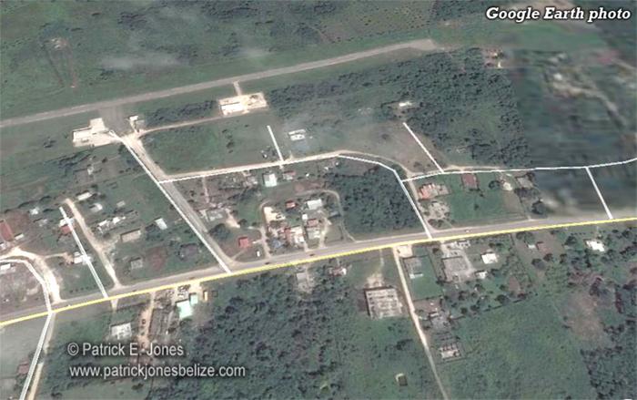 Ranchito Village, Corozal (Google Earth photo)
