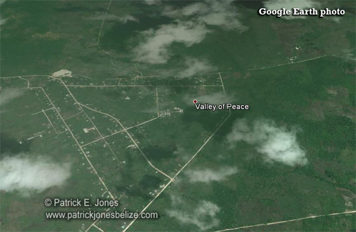 Valley of Peace village (Google Earth photo)