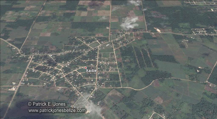 Xiabe village, Corozal (Google Earth photo)
