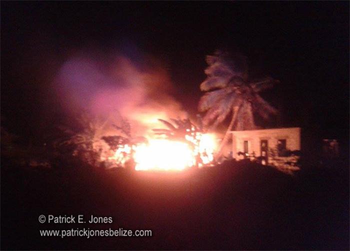 Fire in Corozal