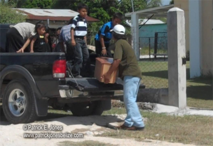Funeral for baby girl in Corozal