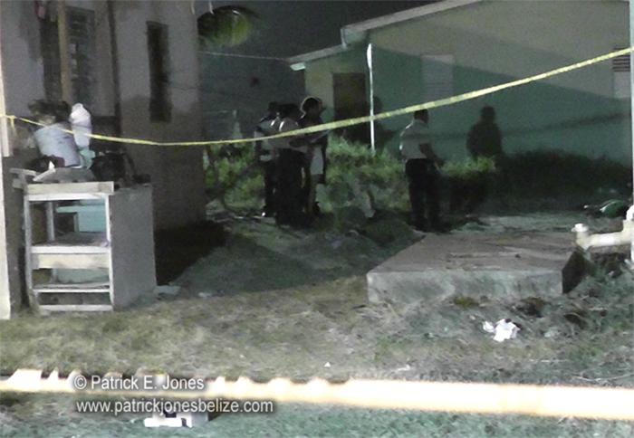 Belize City murder scene