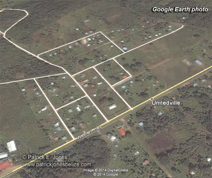Unitedville village (Courtesy Google Earth)
