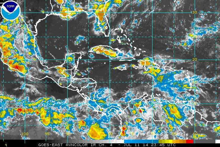 Western Atlantic satellite (Courtesy National Hurricane Center)