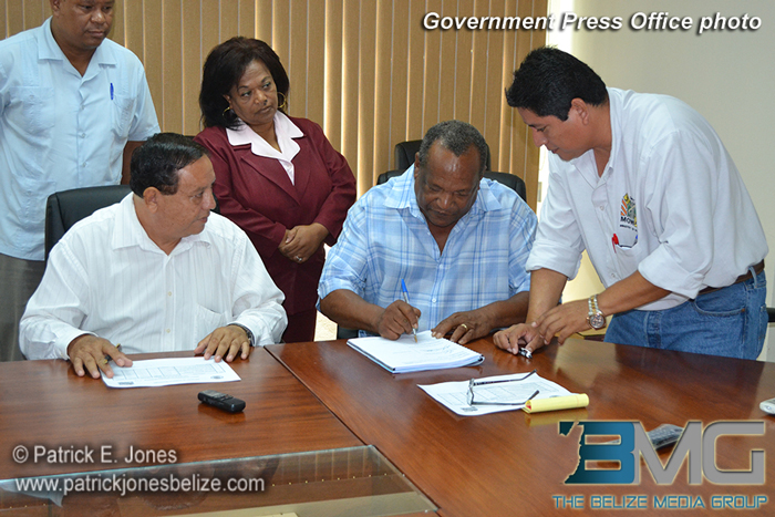 Infrastructure project contract signing
