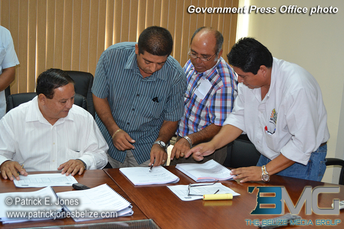 Ministry of Works contract signing