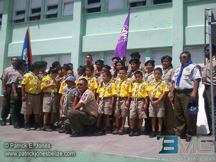 New Scout members in Corozal