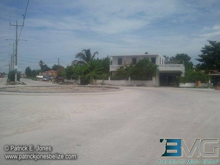Corozal road construction
