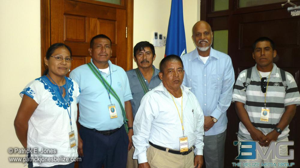 Maya leaders &PM Barrow